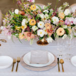 Wedding Table Arrangement Flowers by Salt Harbor Designs